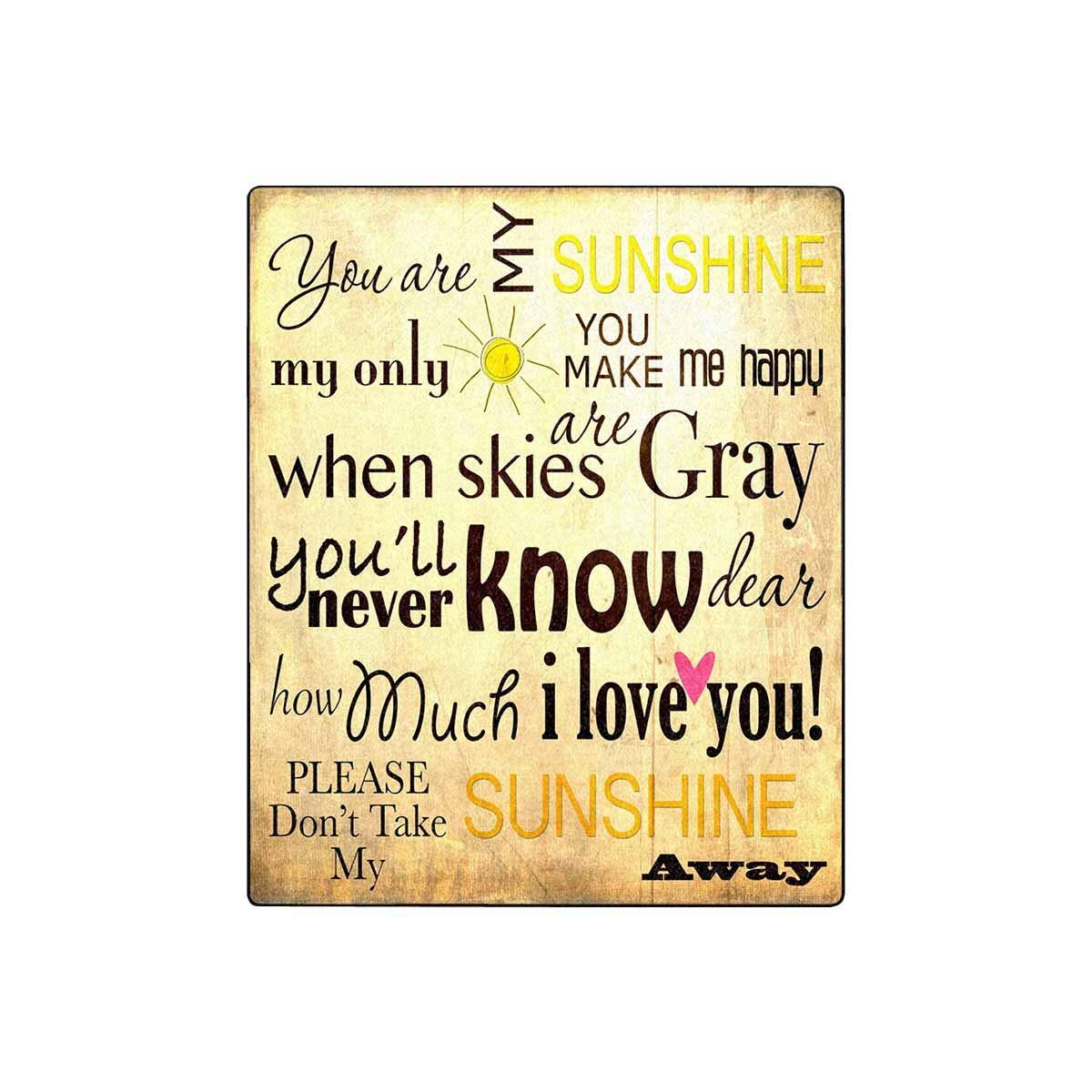 Amazon.com: InterestPrint You are My Sunshine Word - Manta ...