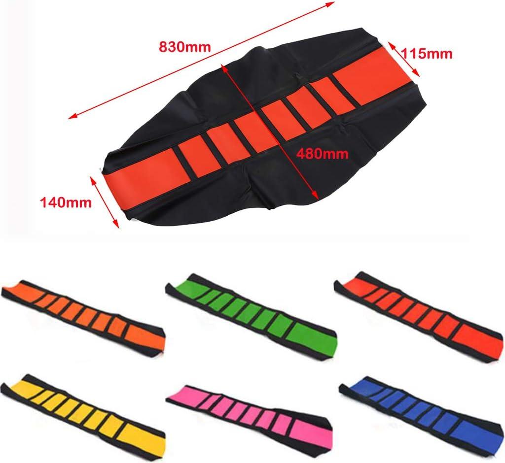 Noir Orange B Baosity Housse De Selle en Cuir pour Moto Housse De Protection pour Suzuki