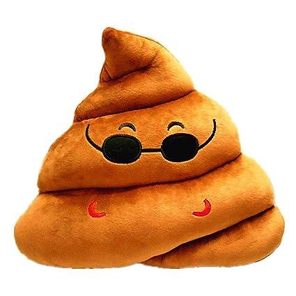 YINGGG Cute Emoticon Felpa Almohada Cojín redondo de peluche regalo para amigos/niños