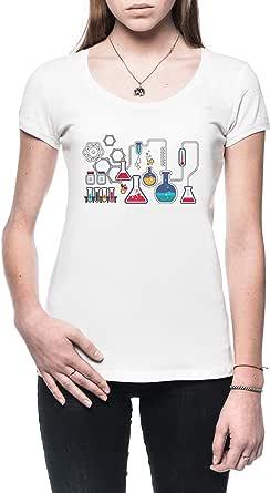 Química Mujer Camiseta Blanco Todos Los Tamaños - Womens T-Shirt White: Amazon.es: Ropa y accesorios