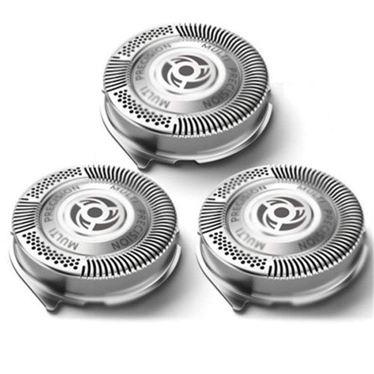 Cabezales de afeitado, 3 piezas Cabezales de afeitado Cabezales de repuesto Cuchillas de afeitar de precisión múltiple Cabeza de afeitar DoMoment