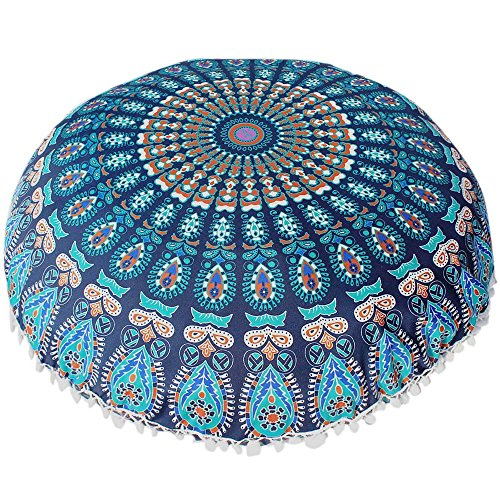 Price comparison product image Clearance! Goddessvan Indian Mandala Pillowcases Round Bohemian Home Cushion Pillows Cover Case Cushions (H)