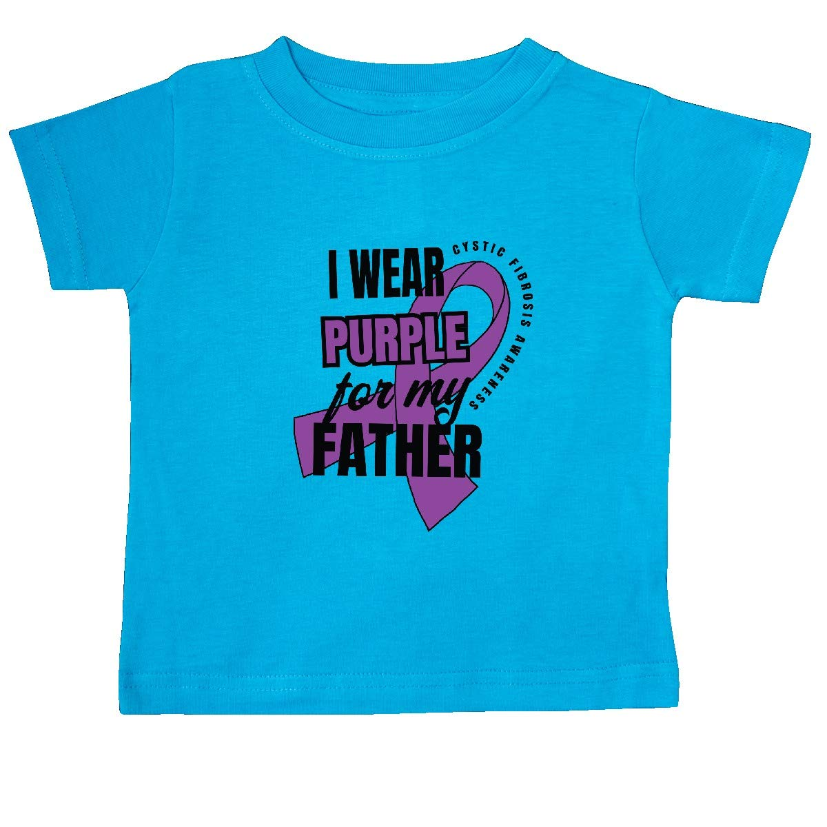 inktastic I Wear Purple for My Father Cystic Fibrosis Awareness Baby T-Shirt