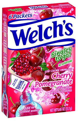 - Welch's Singles To Go Water Drink Mix - Cherry Promegranate Powder Sticks (12 Boxes with 6 Packets Each - 72 Total Servings)