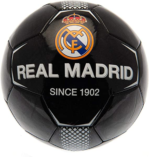 Real Madrid CF - Balón negro (Talla Única) (Negro): Amazon.es ...