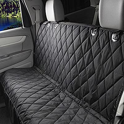 SALE! Limited Time! -Pet Dog Rear Bench Seat Cover! Upgraded model with Side Flaps, Waterproof, Quilted Hammock Style, Non Slip Backing, Universal Fit,Fits Cars, Trucks & SUV's.