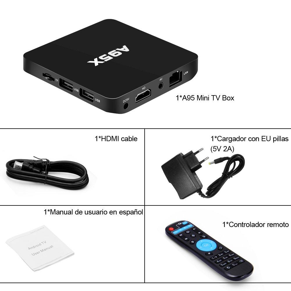 Quarice®Smart Mini TV BOX [Android 6.0 Quad Core KODI 2K*4K H.265 ...
