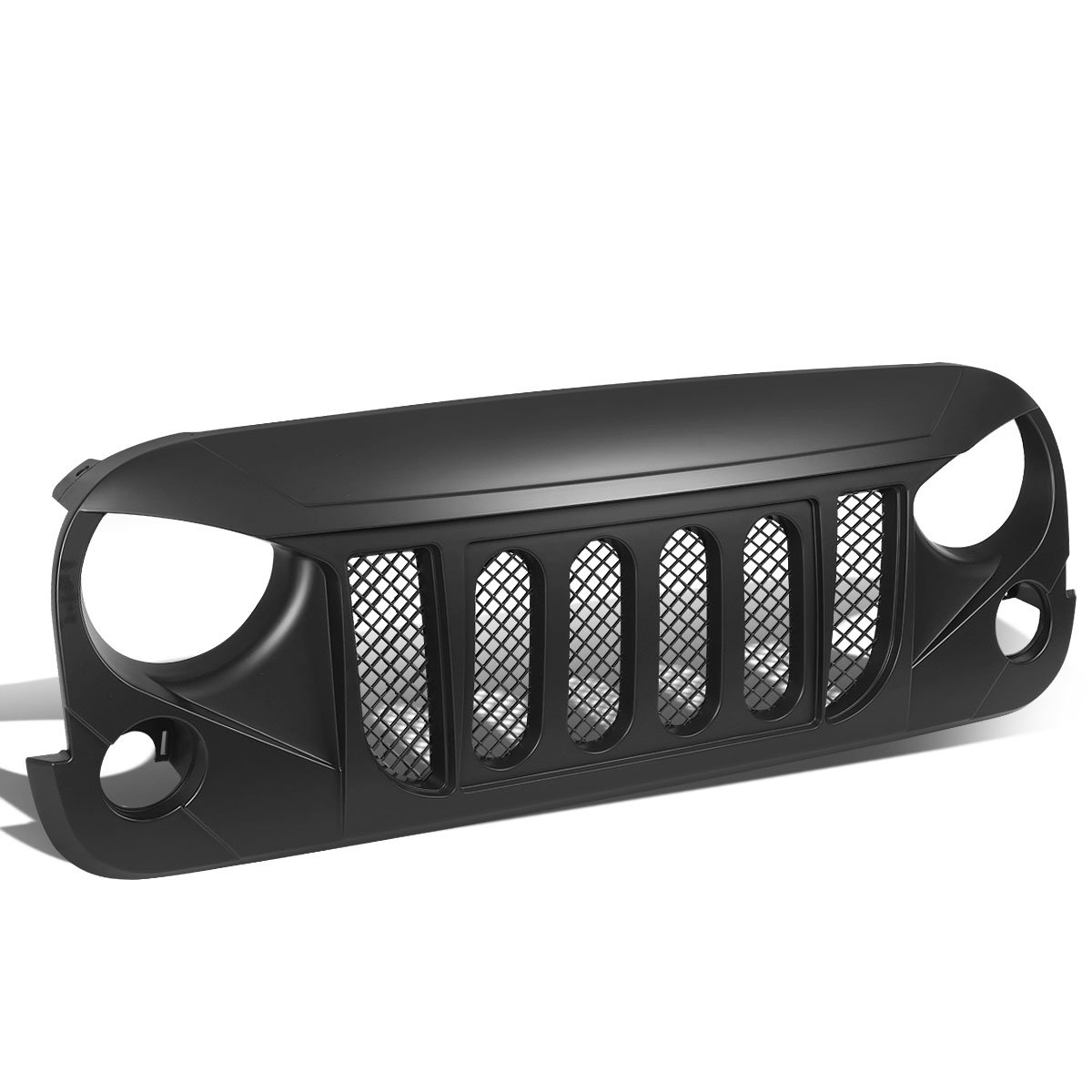 DNA Motoring GR-ZTL-8014 Front Bumper Grille Guard For 07-17 Jeep Wrangler