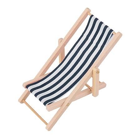 Chaise Blanche Bleue De Bois Longue Pour Et Maison Rayure Poupée En Miniature 112 J3lcuFTK1