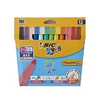 BIC Kids Visacolor XL Feutres de Coloriage - Etui Carton de 12
