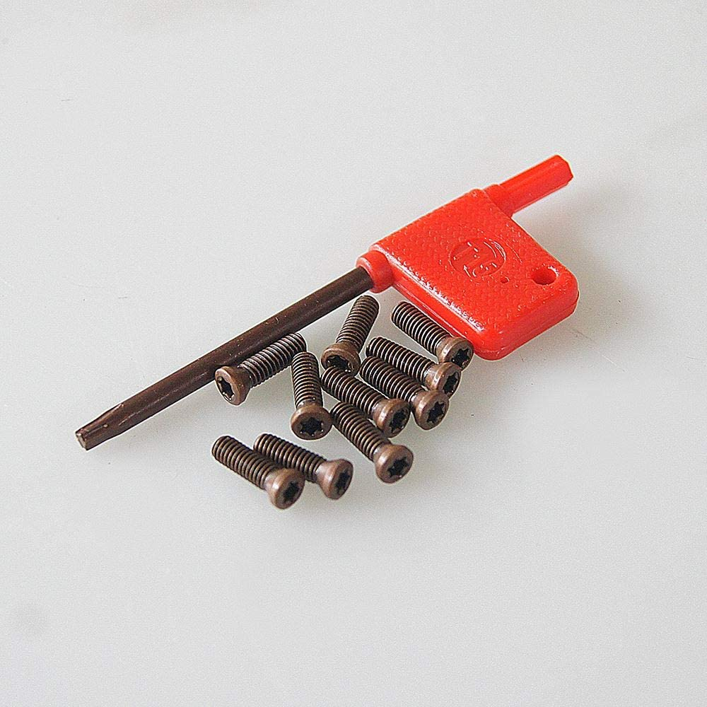 10 St/ücke Drehwerkzeug Wendeschneidplatten Schrauben 3,5X12mm