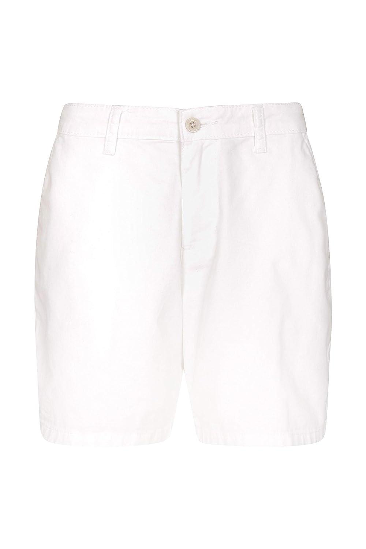 TALLA 34. Mountain Warehouse Lakeside II Pantalones Cortos para Mujer - Ligeros, de Verano, duraderos, de algodón - para la Playa, pícnics