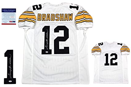 the best attitude 5c32e 34fe7 Terry Bradshaw Autographed Signed Custom Jersey - PSA/DNA ...