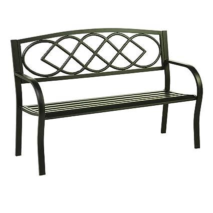 Wondrous Amazon Com Bs Bench Seat Outdoor Furniture Metal Frame Machost Co Dining Chair Design Ideas Machostcouk