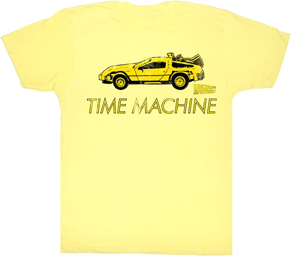 Back To The Future DeLorean Time Machine Adult T Shirt