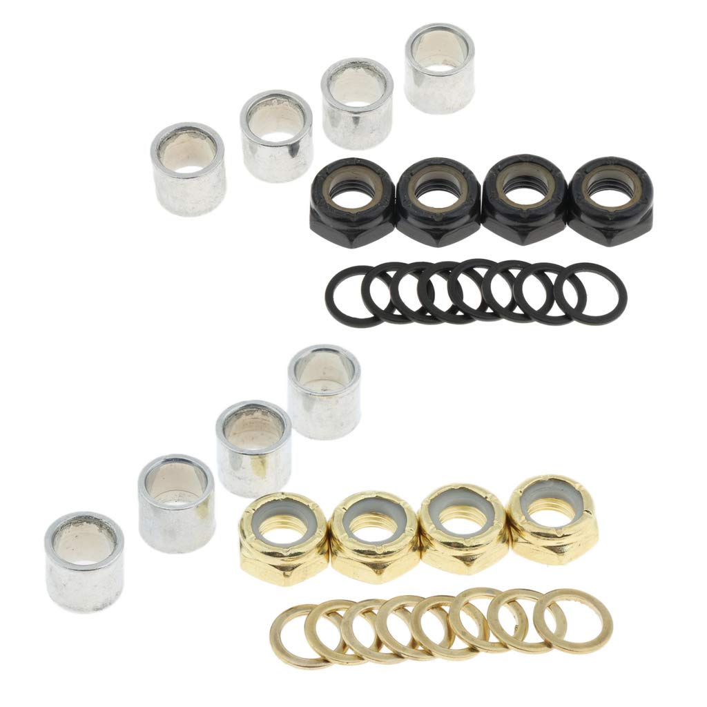 SM SunniMix Pro Skateboard Bearings Spacers Speed Rings Axle Washers Nuts Accessories