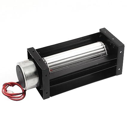 sourcingmap/® DC 12V 0,25 A 3W a flusso trasversale della ventola raffreddamento dello scambiatore calore freddo amplificatore Turbo