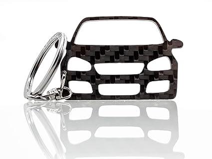 BlackStuff Llavero De Fibra De Carbono Cadena De Claves Compatible Con Golf GTI Mk5 2003-2008