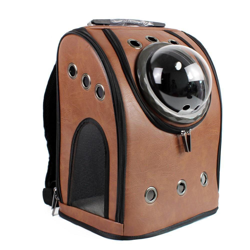 Daeou Zaino per animali domestici Animale domestico spazio borsa handy petto borsa zaino doppia spalla spazio borsa 32x26x42cm