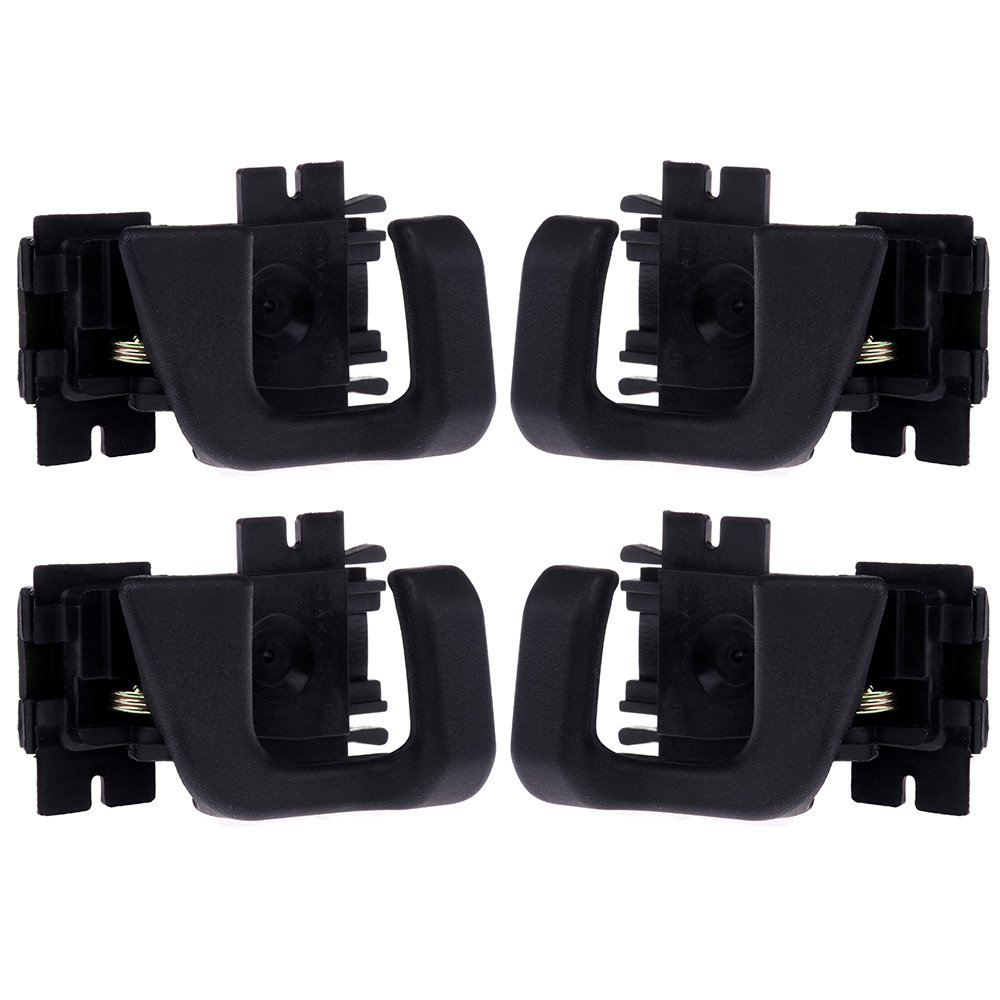 SCITOO Door Handles Interior Front Rear Left Right side fit 1989-1990 Ford Bronco II Black(4pcs)
