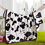LiLy-US Cloud Mink Cashmere Blankets Multifunctional Blanket Double Four Thick Blanket Blanket Blanket Winter Air Conditioning 150200 Cow Dance