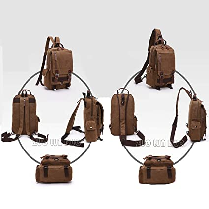 d094e745cc12 Amazon.com   ZXYWW Women s and Men Backpack Canvas Backpack