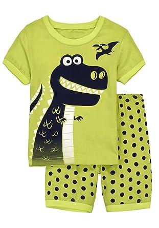 com babypajama little boys shark short pajamas sets  babypajama little boys dinosaur short pajama 2 piece t shirt pants size 5