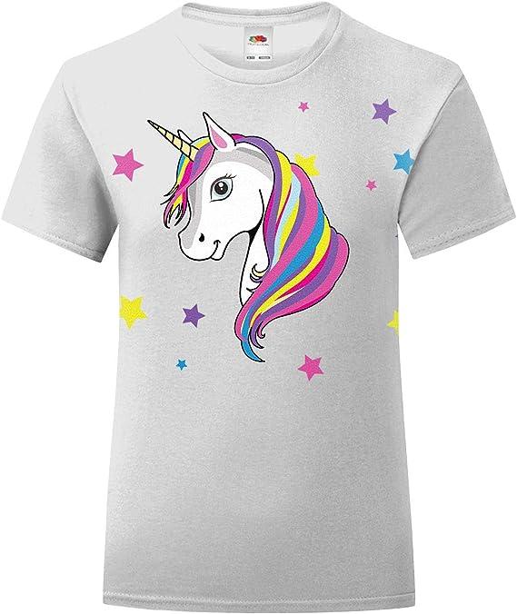 Playera infantil de unicornio arcoíris para niñas de 3 a 15 años: Amazon.es: Ropa y accesorios