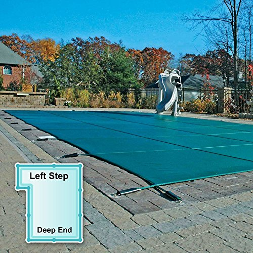 18 x 36 ft. Rectangle Mesh Safety Pool Cover with 4 x 8 ft. Left Step