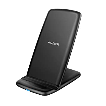 Holife Cargador Inalámbrico Rápido, Cargador Inalámbrico 10W 2 Bobina Antideslizante para Galaxy S9 Plus, S9, S8 Plus, S8, Note8, S7 Edge, S7, y Carga ...