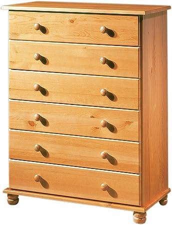 Fabricado en Madera Maciza de Pino, estilo Rustico para un mueble bonito y resitente,Cajones con Gui