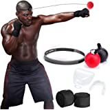 PUBA Boxing Reflex Ball Fight Ball 2 Difficulty Level Boxing Ball with Headband Bandage and Braces Perfect for Boxing Focus Eye Coordination Speed Training Fitness Gym Equipment