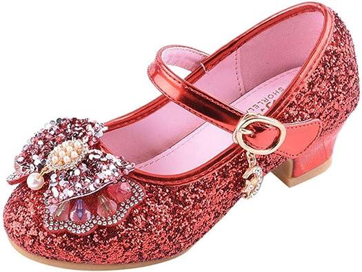 Sayla Zapatos Bailarina para NiñA Baile Tango Latino Vestir Fiesta Princesa Zapatos Cuero para NiñAs Flores Casual Glitter De TacóN Alto Nudo Mariposa Plata: Amazon.es: Zapatos y complementos