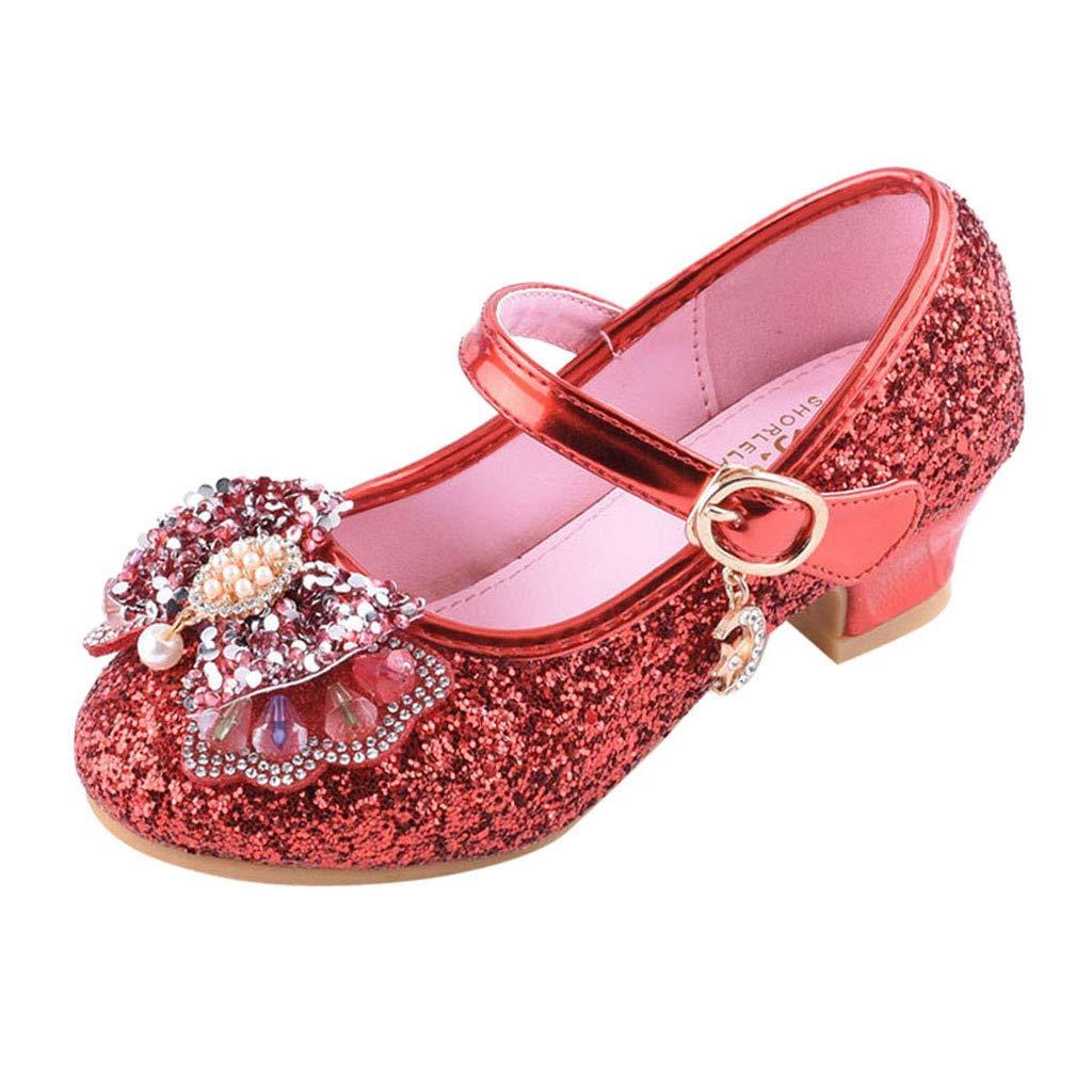 2ebe5b145 LILICAT✈✈ Moda 2019 Niñas y niños Perlas de Lentejuelas Rhinestone Zapatos  Princesa Zapatos Individuales Zapatos pequeños Zapatos de Cristal Sandalias  ...