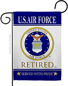 Breeze Decor US Air Garden Flag Armed Forces USAF United State American Military Veteran Retire Official House Decoration Banner Small Yard Gift Double-Sided, Made in USA