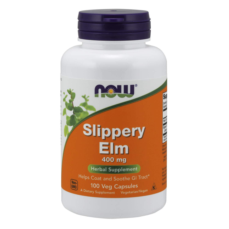 NOW Supplements, Slippery Elm 400 mg, 100 Veg Capsules