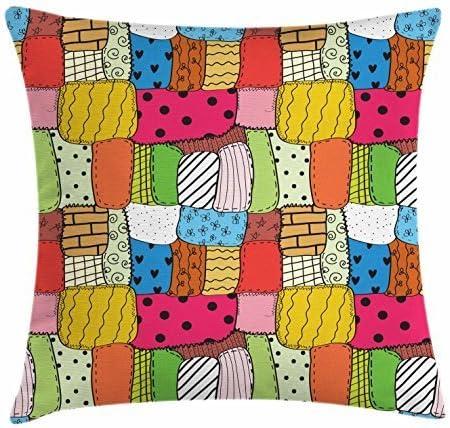 Funda de cojín con diseño de Patchwork, diseño de Hobby de Colores ...