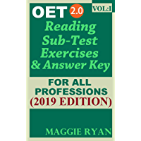 OET Reading (5 sets) For All-Professions by Maggie Ryan: Updated OET 2.0, Book: VOL. 1, 2019 Edition (OET 2.0 Reading Books by Maggie Ryan)