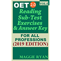 OET Reading (5 sets) For All-Professions by Maggie Ryan: Updated OET 2.0, Book: VOL. 1, 2019 Edition (OET 2.0 Reading Books by Maggie Ryan) (English Edition)
