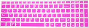 PcProfessional Hot Pink Ultra Thin Silicone Gel Keyboard Cover for Lenovo IdeaPad Z50, Y50, Y500, Y510P, G50, G500, G500s, G505, G505s, G510, G570, G575, G770, G580, G585, G710, G700, G780, Flex 15, Flex 2 Laptop with Application Kit (Please Compare Keyboard Layout and Model)