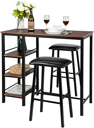 Bonnlo 3-Piece Dining Set Pub Table Set