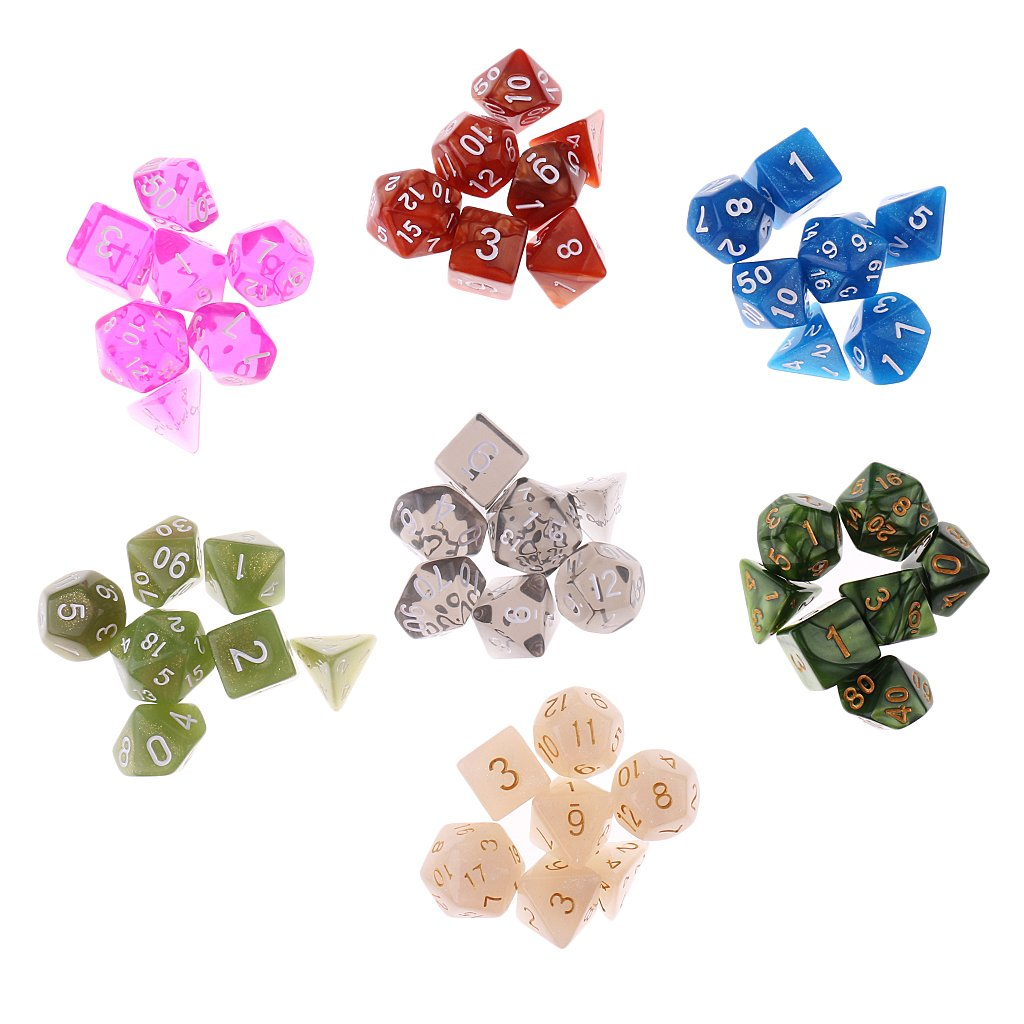 Homyl 2cm Polyhedral Four Sided Dice Set Table Games D4 D/&D TRPG Colors Dice Pack of 50