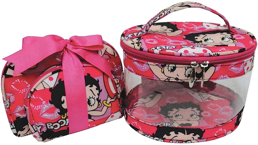 Amazon.com: Betty Boop bolsa de maquillaje conjunto de 3 ...