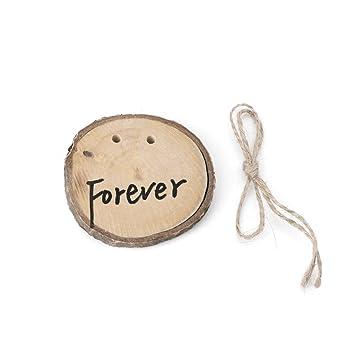 deboc rústico boda madera anillo portador almohada cojín ...