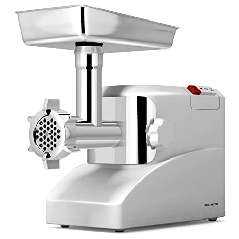Kitchener Heavy Duty Electric Meat Grinder 2//3 HP 500W 3-speed with Stainless