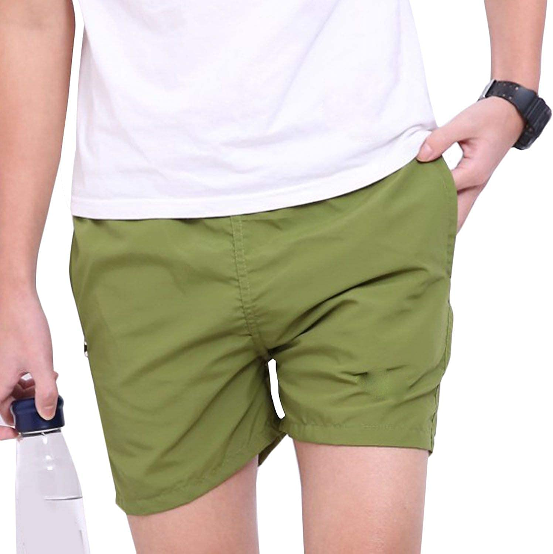 Men Solid Color Cargo Shorts Summer Beach Men Solid Color Cargo Shorts Casual Pants Trousers