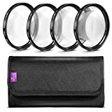 Altura Photo 58MM +1 +2 +4 +10 Close Up Macro Lens Set with Filter Pouch for Nikon Canon Sony Pentax Olympus Cameras
