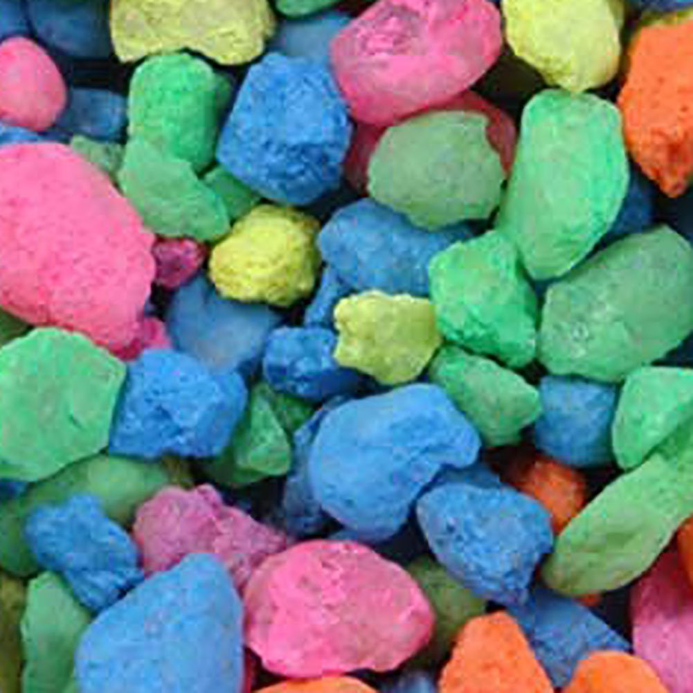 Safe & Non-Toxic 20 Pound Bag of ''Acrylic Coated'' Gravel & Pebbles Decor for Freshwater & Saltwater Aquarium w/ Vibrant Rainbow Glow Style [Neon Green, Pink, Orange, Blue & Yellow Colors] by mySimple Products (Image #1)