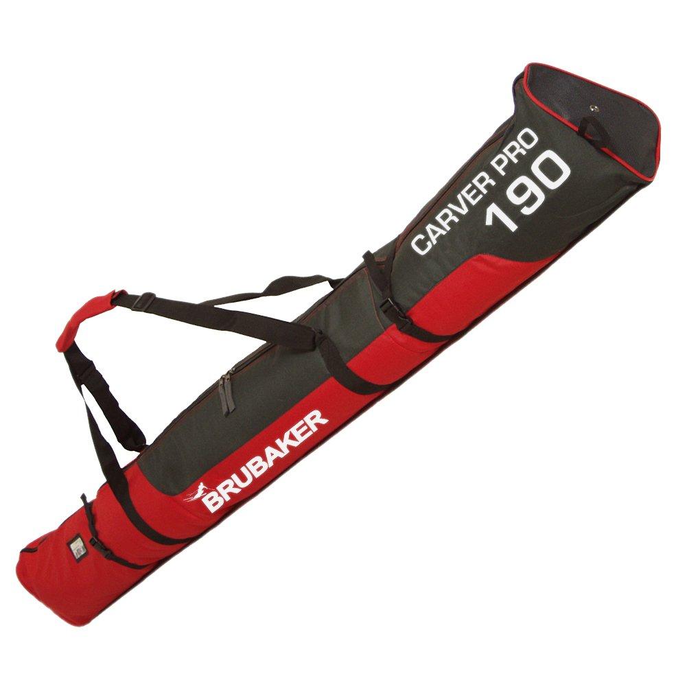 Brubaker Carver Pro - Funda para esquís rellena, capacidad para 1 par de esquís y bastones, 170 o 190 cm