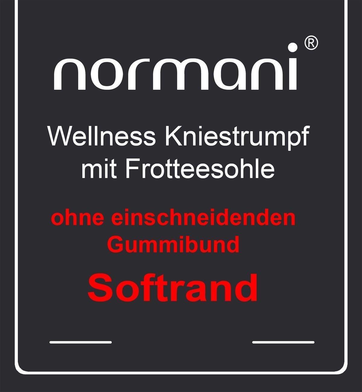 normani 3 Paar Kniestr/ümpfe mit weichem Piqu/ébund und Frotteesohle in Schwarz